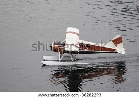 Float Plane Landing - stock photo