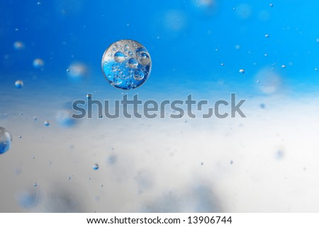 floating bubble ball with the colours of Finland and Argentina flag