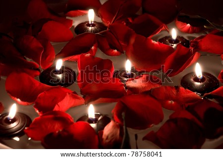 floating candles - stock photo