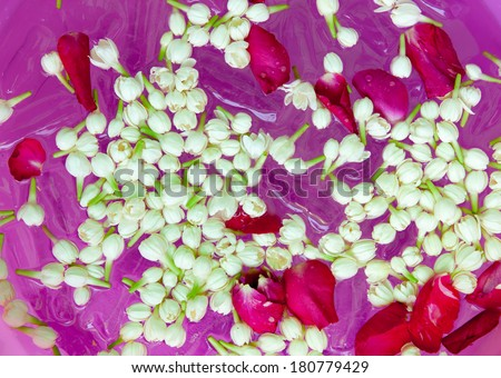 Floating flowers  - stock photo