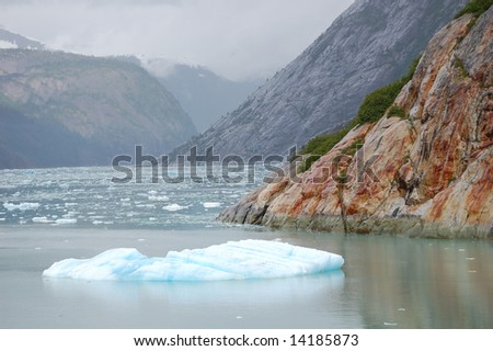 Floating ice - stock photo