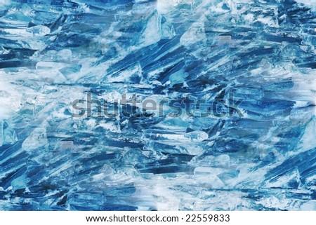 floating ice chunks background - stock photo