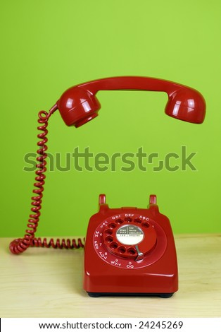 Floating Phone Handset - stock photo