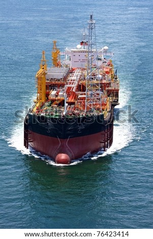 Floating, production, storage and offloading vessel (FPSO) - stock photo