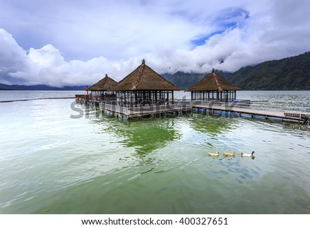 Floating Restaurant in Lake Batur Kintamani, Bali
