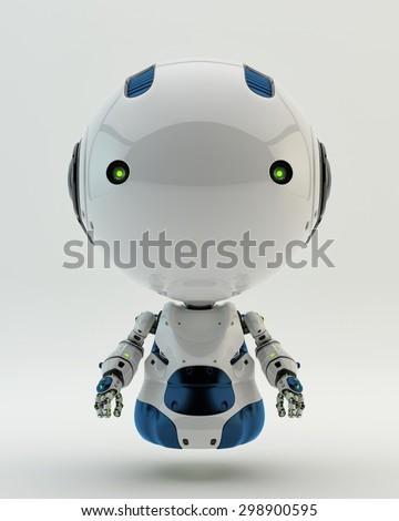 Floating robotic toy - stock photo