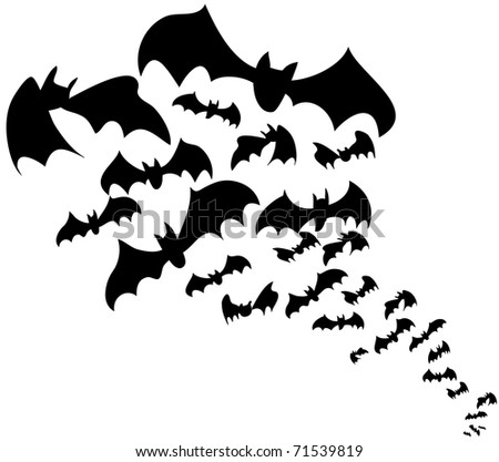 flock of bats halloween decoration - Halloween Bats Decorations