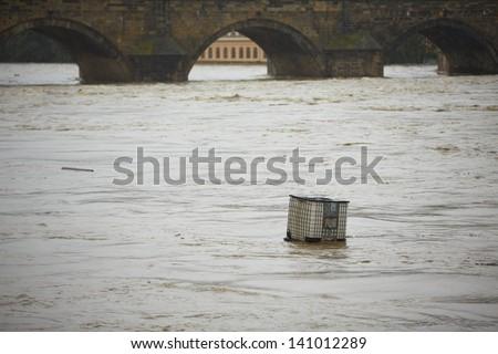 Flood in Prague, Czech Republic, Europe - stock photo