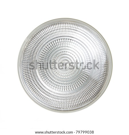 Flood Light Bulb from Front Isolated on a White Background - stock photo