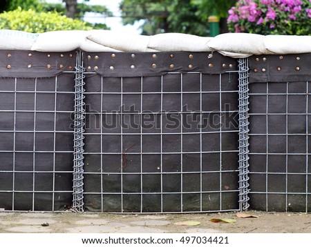 how to build a sandbag wall