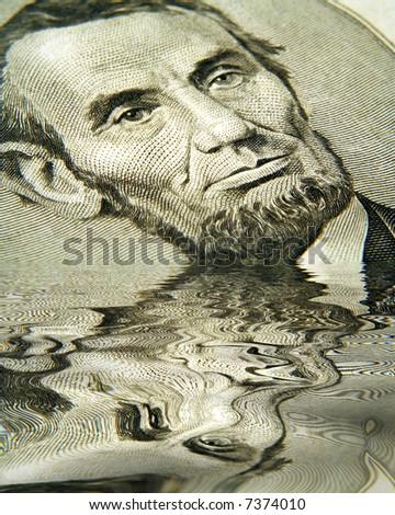 Flooded Abe - stock photo