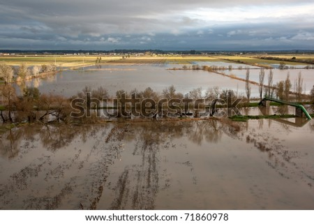 Flooded Fields on a Cloudy Day  - Portugal