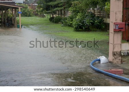 Flooded home - stock photo