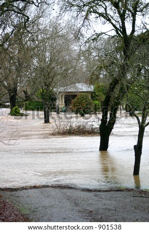 Flooded Property - stock photo