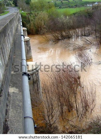 Flooded River - stock photo