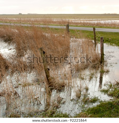 Flooding in Holland - stock photo