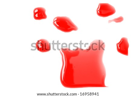 flooding red India ink - stock photo