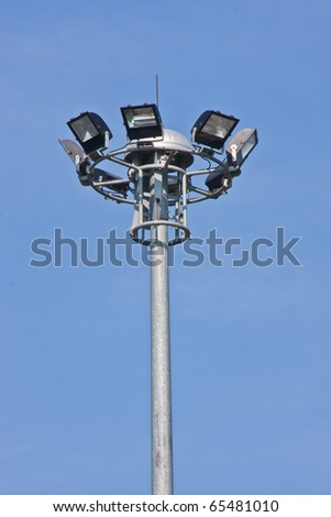 floodlight that  against blue sky