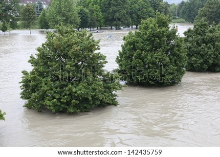 Floodwaters - stock photo