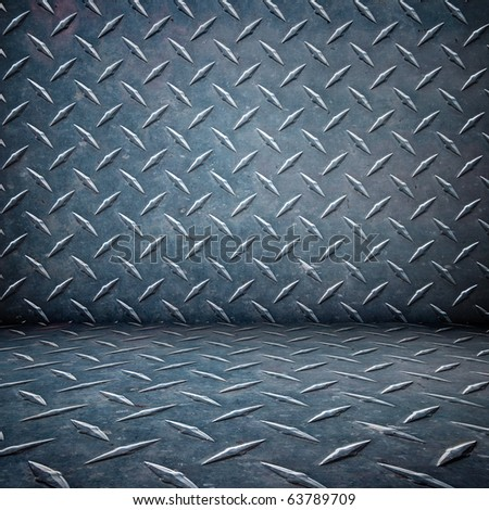 floor and room rivets plate metal background - stock photo