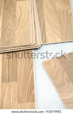 Floor installation - stock photo