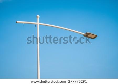 floor lamp for decorate garden or walkway in blue sky - stock photo
