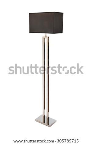 floor lamp, isolated on white background - stock photo