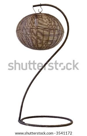 Floor lamp on white background - stock photo