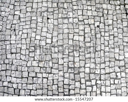 Floor of granite paving stone. - stock photo