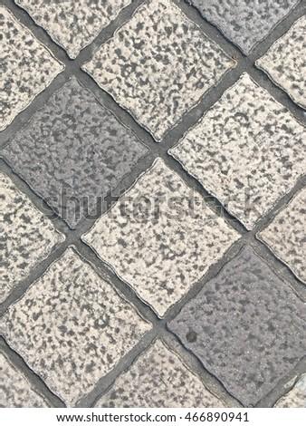 Floor texture sidewalk stock photo 466890941 shutterstock for Terrace tiles texture
