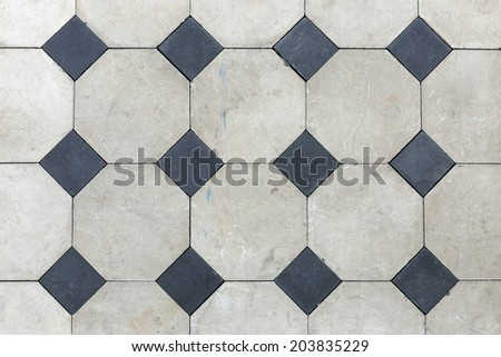 Floor Tile in black and gray background - stock photo