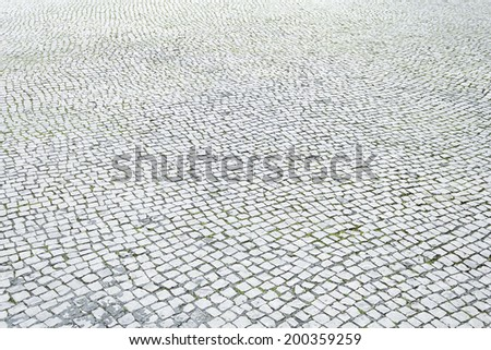 Floor tiles in urban city street, construction and architecture - stock photo