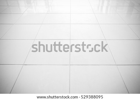 Floor tiles white vignette can be used as background or for interior design and exterior.