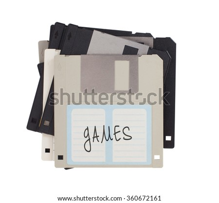 Floppy disk, data storage support, isolated on white - Games