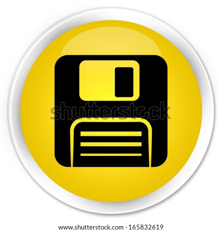 Floppy disk icon yellow button