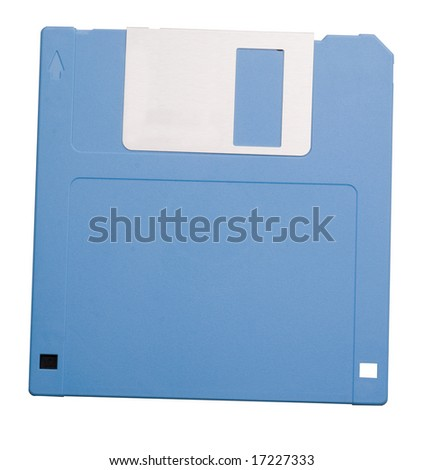 Floppy disk with clipping path - stock photo