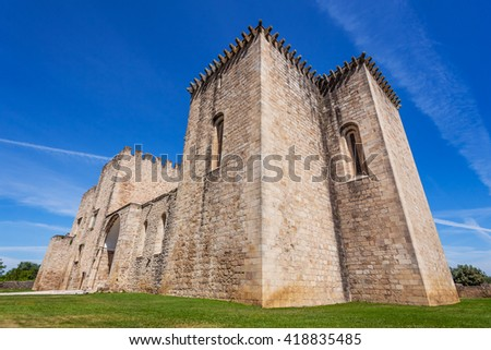 Flor da Rosa Monastery in Crato. Belonged to the Hospitaller Knights (aka Malta Order), one of the Crusader Orders. Currently a Pousada de Portugal / Historical Inn of Portugal. - stock photo