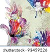Floral abstract background for your designs - stock vector