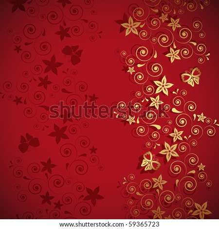 floral abstraction congratulations - stock photo