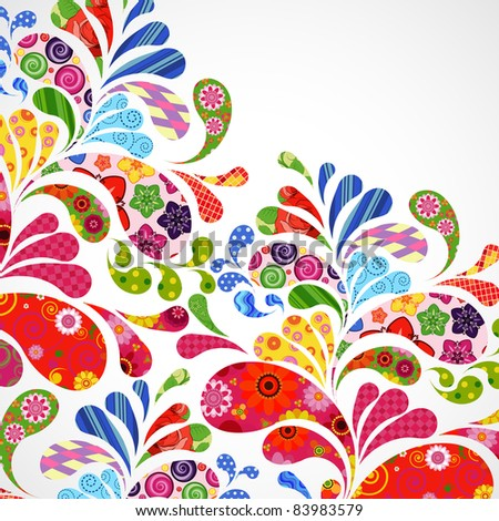 Floral and ornamental item background. - stock photo