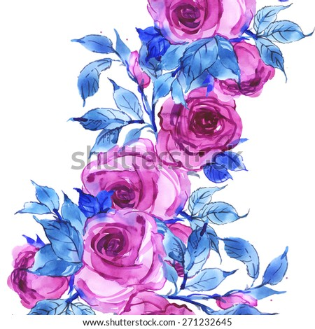 Floral background delicate pink roses-3 - stock photo