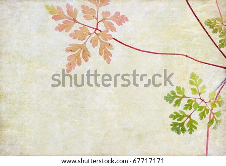 floral background with earthy texture - stock photo