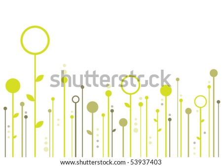 Floral Background With Space For Your Text (in the gallery also available vector version of this image)