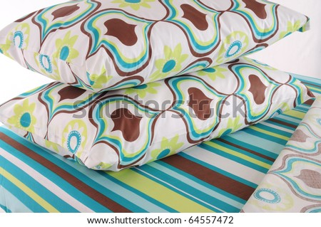 Floral bedding. - stock photo