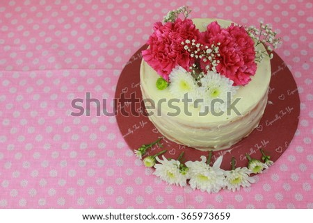 Floral cake. The concept of food.