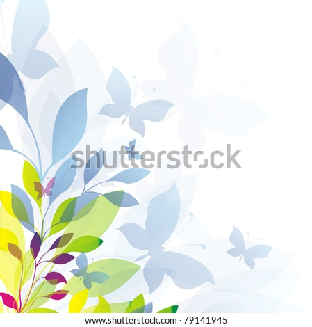 Floral card - stock photo