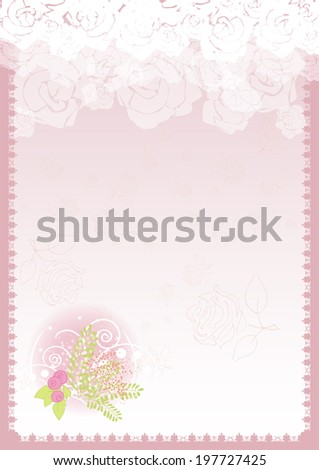 floral congratulation greeting template diploma vertical portrait raster