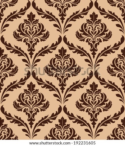 Floral damask seamless pattern for background and wallpaper design. Vector version also available in gallery - stock photo