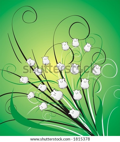 floral decoration - stock photo