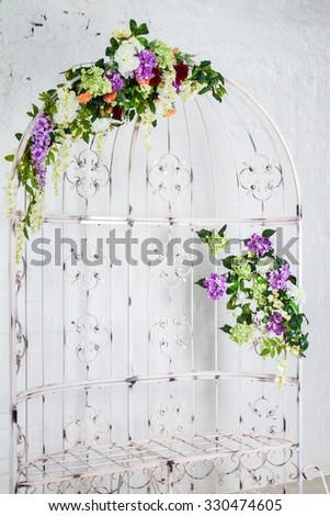 Floral decorations in the interior - garden furniture, cell